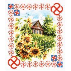 Набор для вышивания крестом Защита дома, 28x23, Чудесная игла