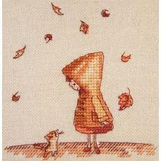 Набор для вышивания крестом Осенняя встреча, 10x10, НеоКрафт