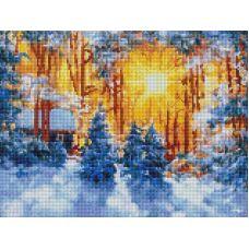 Алмазная мозаика Февраль, 30x40, полная выкладка, Белоснежка
