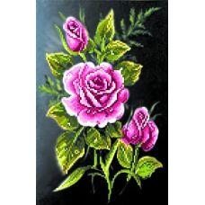 Набор для вышивания бисером Роза в ночи, 28x34 (19x29), Матренин посад