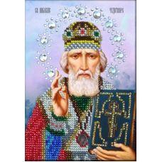 Набор для вышивания в подарочной упаковке святой николай чудотворец (подарочная упаковка), 16x12, Вышиваем бисером