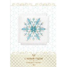 Набор для вышивания крестом Снежинка: открытка, 5,7x5,7, Алиса