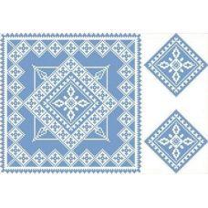 Рисунок-схема на водорастворимом флизелине КФО-3007, 27,7x40,7 см, Каролинка