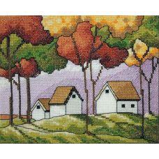 Набор для вышивания крестом Краски осени, 14x19, НеоКрафт