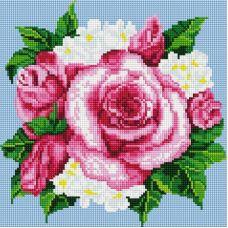 Алмазная мозаика Розовые розы, 30x30, полная выкладка, Белоснежка