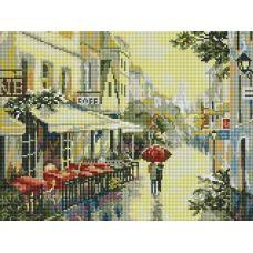 Алмазная мозаика Прогулка по улицам Парижа, 30x40, полная выкладка, Белоснежка