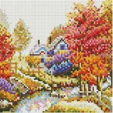 Алмазная мозаика Октябрь, 20x20, полная выкладка, Белоснежка