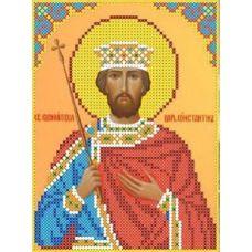 Набор для вышивания бисером Святой Константин, 13x17, Каролинка