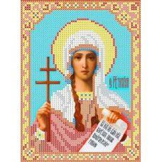 Набор для вышивания бисером Святая Татьяна, 13x17,2, Каролинка