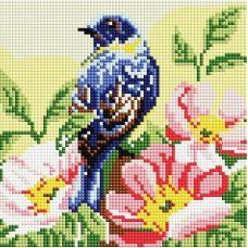 Алмазная мозаика Птичка, 20x20, полная выкладка, Белоснежка