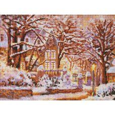 Алмазная мозаика Зимняя сказка, 30x40, полная выкладка, Белоснежка