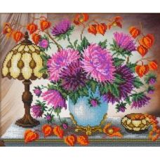Набор для вышивания Астры, 31x26, Русская искусница