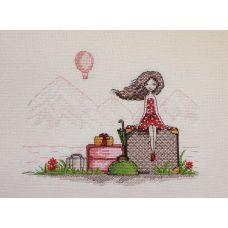 Набор для вышивания крестом Мечты в отпуске, 16x21, НеоКрафт