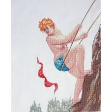 Набор для вышивания крестом Альпинистка, 25x30, НеоКрафт