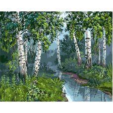 Живопись по номерам Ручей в березовой роще, 40x50, Paintboy, GX3449