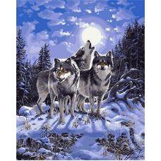 Живопись по номерам Волчья стая, 40x50, Paintboy, GX9700