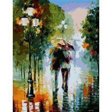 Живопись по номерам Двое под дождем, 40x50, Paintboy, GX6996