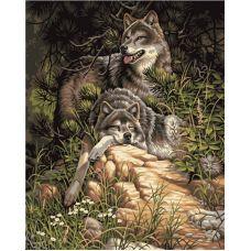 Живопись по номерам Дикие и свободные волки, 40x50, Paintboy, GX6177