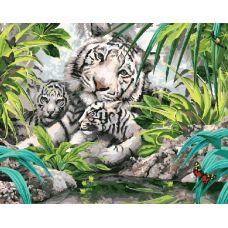 Живопись по номерам Белые тигрята, 40x50, Paintboy, GX7877
