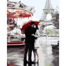 Живопись по номерам Под зонтом счастья в Париже, 40x50, Paintboy, GX3015
