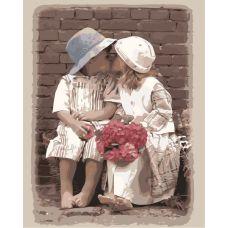 Живопись по номерам Первый поцелуй, 40x50, Paintboy, GX8599