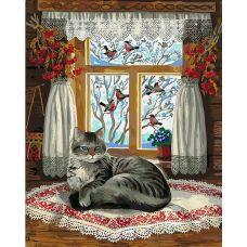 Живопись по номерам Зима за окном, 40x50, Paintboy, GX4122
