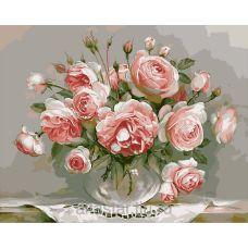 Живопись по номерам Розы на столе, 40x50, Paintboy, G436
