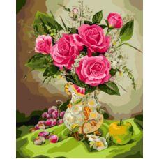 Живопись по номерам Розы с фруктами, 40x50, Paintboy, GX8256