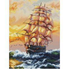 Набор для вышивания крестом Под парусами, 20x27,5, Белоснежка