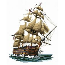 Набор для вышивания крестом Корабль Виктория, 29x34, Белоснежка