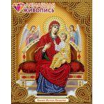 Мозаика стразами Икона Богородица Всецарица, 22x28, частичная выкладка, Алмазная живопись