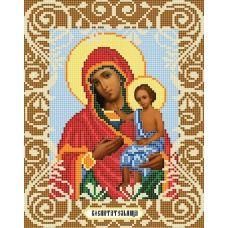 Канва с рисунком Богородица Воспитательница, 20x25, Божья коровка