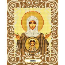 Канва с рисунком Богородица Знамение, 20x25, Божья коровка