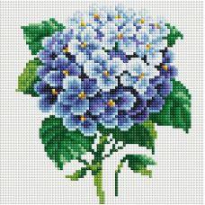 Алмазная мозаика Ветка гортензии, 20x20, полная выкладка, Белоснежка