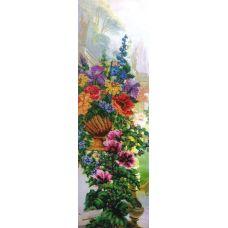 Набор для вышивания бисером на шелке Теплый вечер, 24x79, Fedi