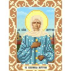 Канва с рисунком Святая Матрона Московская, 12x16, Божья коровка