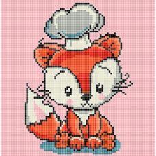 Канва с рисунком Лисичка, 20x20, Божья коровка
