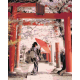 Живопись по номерам Японка и цветущая сакура, 40x50, Hobruk, HS1078