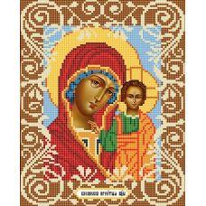 Канва с рисунком Богородица Казанская, 20x25, Божья коровка
