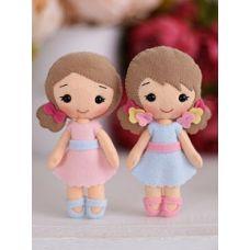 Набор для шитья куклы Малышки Полина и Алина, 15 ,Тутти