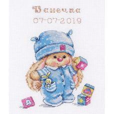 Набор для вышивания крестом Зайка Ми малыш, 13x17, Алиса
