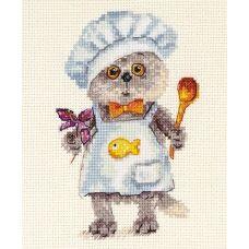 Набор для вышивания крестом Басик шеф-повар, 10x14, Алиса