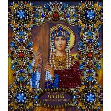 Набор для вышивания хрустальными камнями Святая Елена, 16,5x19, Хрустальные Грани