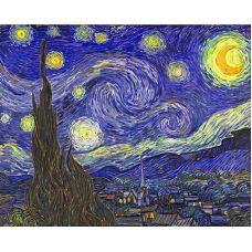 Мозаика стразами Звездная ночь, 40x50, полная выкладка, Алмазная живопись