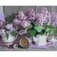 Живопись по номерам Сиреневый натюрморт, 40x50, Hobruk, U8125