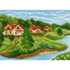 Рисунок на канве Дачный поселок, 16x20, Матренин посад