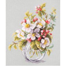 Набор для вышивания крестом Яблоневый цвет, 18x23, Чудесная игла