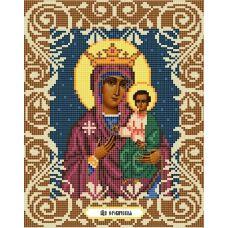 Канва с рисунком Богородица Юровичская, 20x25, Божья коровка
