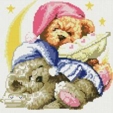 Алмазная мозаика Два медвежонка, 30x30, полная выкладка, Белоснежка