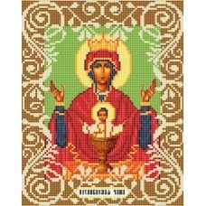 Канва с рисунком Богородица Неупиваемая Чаша, 20x25, Божья коровка